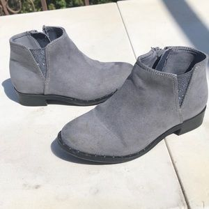 Gray Bootie Boots